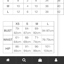 Abyss By Abby Dress Size Chart Depop