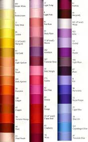 Morex Ribbon Color Chart For Yellows Oranges Reds And