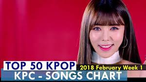 Top 50 Kpop Songs Chart February Week 1 2018 Kpop Chart