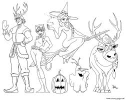 Small Picture frozen halloween Coloring pages Printable