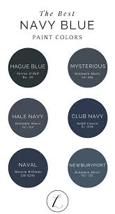 The best navy paint colors from some of the most popular brands!