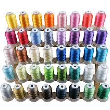 Brother Thread Conversion Chart New Brothread 40 Brother Colors Polyester Embroidery Machine Thread Kit 500m 550y Each Spool For Brother Babylock Janome Singer Pfaff Husqvarna