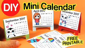 diy how to make mini calendar step by step easy 2017 fun craft you