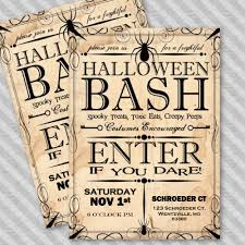 Apothecary Style Halloween Party Invitation Instant Download Template