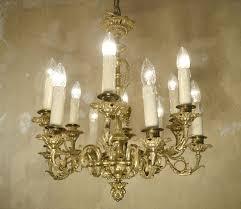 Kronleuchter Antik Kristall Lüster Lampe Empire Jugendstil