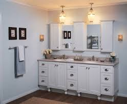 image of white bathroom wall cabinet design
