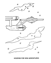 Small Picture Star Trek Coloring Pages Starship Enterprise traveling through