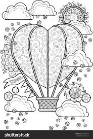journey in a balloon valentines day coloring book for adult i love ...