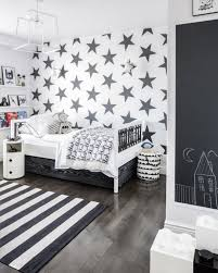 Stylish Black And White Boys Room Design
