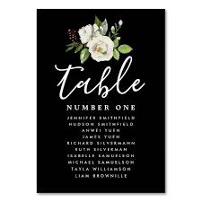 Table Number Chart Wedding Elegant White Floral Wedding Guest Seating Chart Table Number