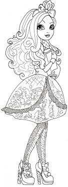 Free Printable Ever After High Coloring Pages Apple White With ...