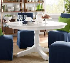 owen extending pedestal dining table pottery barn within white round idea 2