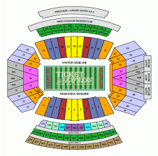 Memorial Stadium Seating Chart Nebraska Football Memorial