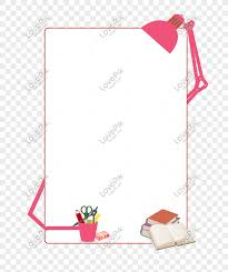 Red Cartoon Hand Drawn Creative Stationery Border Png