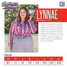 Lularoe Lynnae Sizing Chart Lularoe American Dreams Lularoe