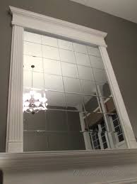 Mirror Tiles Decorating Ideas DIY Beveled Mirror Tile Overmantel Hometalk 44