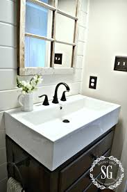 Decor For Bathrooms farmhouse powder room lightandwiregallery 5432 by uwakikaiketsu.us
