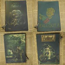 home decor fallout 3 4 game poster home furnishing decoration kraft game poster drawing core wall