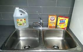 stainless steel sink drain how to clean drains with baking soda and vinegar how to clean