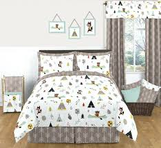 woodland bedding sets aqua and yellow woodland wall art room decor hangings for baby girls woodland