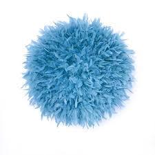 light blue juju hat feather wall decor