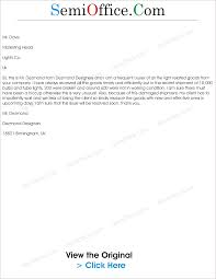 Request For Replacement Of Damaged Goods Letter Png