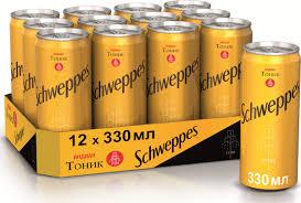 Газированный <b>напиток Schweppes Indian Tonic</b>, 0,33 л х 12 шт ...