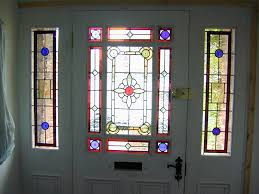 Front Doors  Unique Coloring Front Door With Stained Glass - Exterior door glass replacement