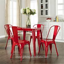 Retro Metal Kitchen Table Wholesale Cheap Steel Industrial Retro Cafe Metal Dining Chair