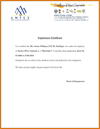 11 Experience Certificate For Accountant Primary Write