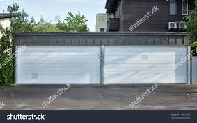 Modern Garage Door Large Automatic Rollup Stock Photo (Royalty Free ...