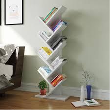 Tribesigns 9-Shelf Tree Book Shelf, Modern Bookcases and shelves Kids  Children Bookshelf Shelving Display Storage Rack for CD Book Home Office  Decor (White)