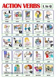 List Of Action Verbs 301 Best Action Verbs Images English Classroom English Grammar
