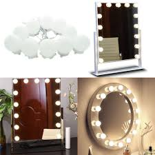 Image Ceiling Makeup Mirror Led Lights 10 Hollywood Vanity Light Bulbs For Dressing Table With Dimmer And Plug Aliexpress Makeup Mirror Led Lights 10 Hollywood Vanity Light Bulbs For