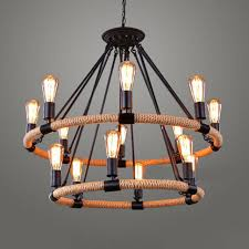 industrial vintage wrought iron pendant