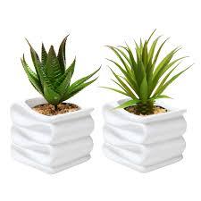modern white folded design small ceramic plant pot  flower