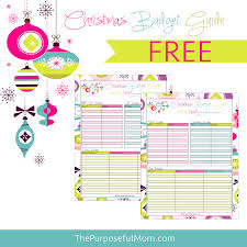 Free Budget Planners Free Printable Christmas Budget Planner The Purposeful Mom