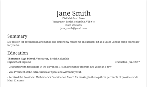 Resume Canada Sample How To List Academic Achievements On A Resume 24 Examples 18