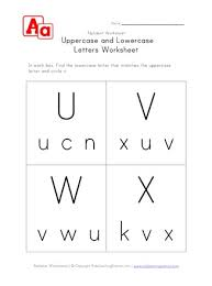 lowercase and uppercase u v w and x