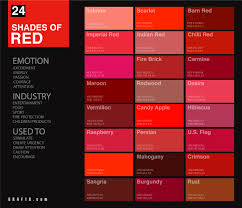 Fire Color Chart 24 Shades Of Red Color Palette Graf1x Com