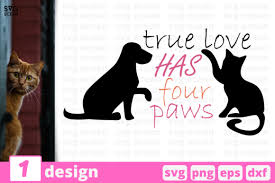 Love with paw print #1 quantity. True Love Has Paws Graphic By Svgocean Creative Fabrica