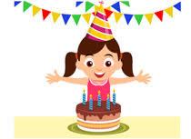 girl birthday cake clip art. Contemporary Birthday Excited Girl Celebrating Birthday With Cake Clipart Size 76 Kb With Girl Birthday Cake Clip Art