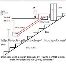 how to map house electrical circuits electrical pinterest 2 way intermediate lighting circuit wiring diagram staircase wiring circuit diagram how to control a lamp from 2 places by 2 way switches