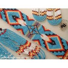 navajo bead designs. Navajo Style Feather Pattern Indian Beadwork Necklace \u0026 Earrings Bead Designs A