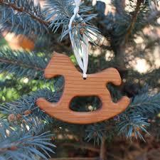Christbaumschmuck Aus Holz Schaukelpferd Geschenkanhänger Kaufen