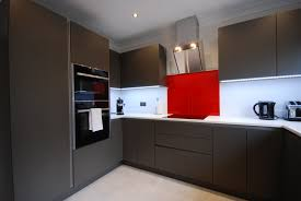 Kitchens Interiors Stunning Fusion Linear Kitchen Installed In Guildford By Saffron