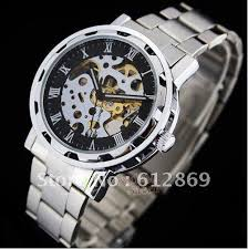 aliexpress mobile global online shopping for apparel phones shipping new automatic mechanical skeleton watches brand stainless steel wrist silver auto men s watch w0003