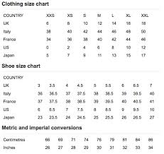 Us Size Chart Vs Uk Jeans Sizing Conversion Online Charts Collection