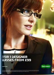 "an analysis on the marketing campaign of specsavers the role that  the print advertisement focuses on the price of specsavers glasses by highlighting the phrase ""2 for 1 designer glasses"" it displays an attractive female"
