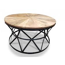 french provincial cast iron round coffee table